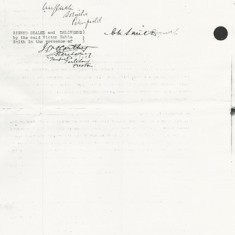 Covenant to surrender, signatures of CP and VN Smith