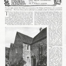 'The Court House, East Meon, Hampshire - The Home of Mr P Morley Horder', by Arthur Oswald. Country Life Vol LXXXI 8th May 1937