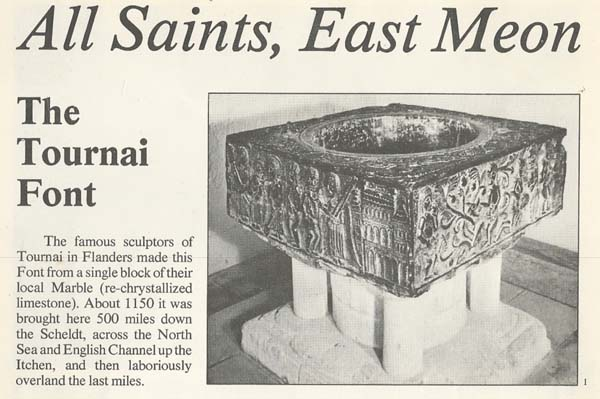 Guide booklet describing the Tournai Font