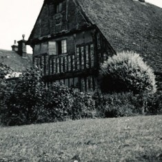 The Tudor House, with its lawn.
