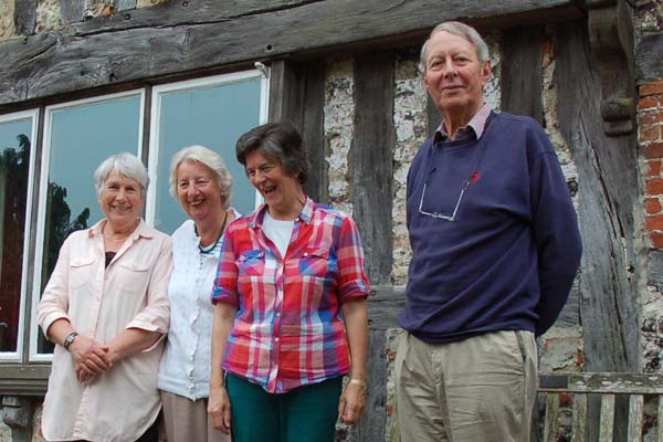 Tudor House owners, present and past. Right to left, Christopher and Jane Cobley, Olivia Tottle, Tricia Blakstad