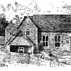 Victoria County engraving of Court House farm, as it was until early in the 20th century.