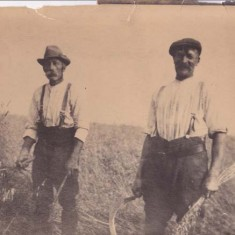 Whitear grandfather (Shep) on left
