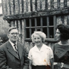 The Woodfields with daughter Margaret when they visited The Tudor House in 1981.