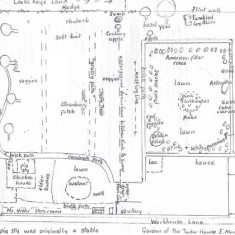 Olivia Tottle's plan of the garden in the 1940s/50s - much of it dedicated to the growing of produce.