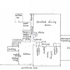 Olivia Tottle's plan of the ground floor in the 1940s and 50s