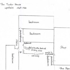 Olivia's plan of the first floor in the 1940s and 50s