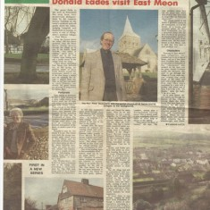 Second part of Your Village. The centre photo shows Rev Peter Wadsworth