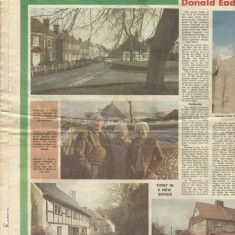 First of three scans of East Hampshire Post. Centre photo shows Herbie Goddard with his wife Nellie and Margery Lambert