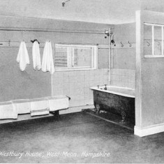 One of the bathrooms in the boys' school.
