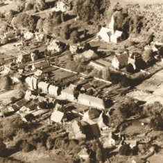 Aerial photograph East Meon, post WWII