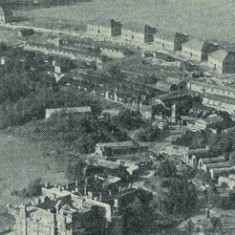 Aerial shot showing naval housing on the southern rim.