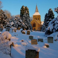 The graveyard in snow, January 2010. | Michael Blakstad