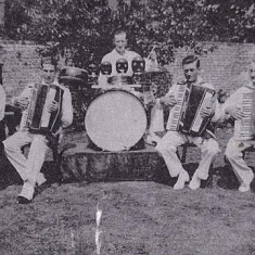 Band, late 1930s Mrs Smith, George Blackman, William Blackman, Bert Lambert