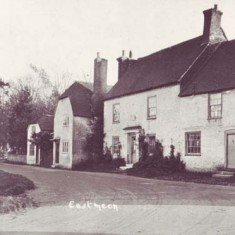 The High Street, featuring two of the cottages at Barnards Corner and Bell Cottage