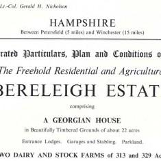 1958 sale particulars