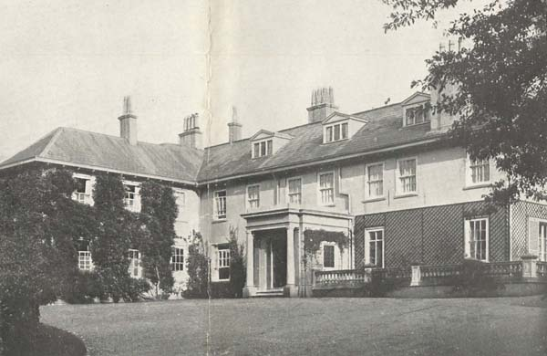 Bereleigh front entrance, 1918, from the sales particulars.