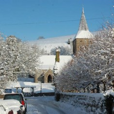 All Saints Church in snow from Church Street. 2010. | Michael Blakstad