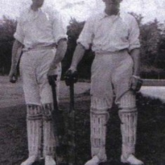 Batsmen, W Blackman on right.