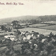 Western end of village, early in the reign of George V. The Institute can be seen, and Aburrow's wheelwright workshop, but the rifle range has not yet been built. Rose Cottage is still in front of Heycroft.
