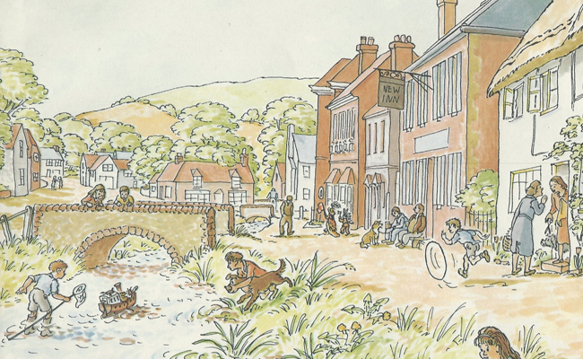 River Meon, from Tim Mouse goes down the Stream by Judy Brook.