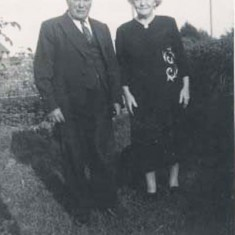 Great Great Granny Alice with Albert. Albert was born on New Year's Day in 1872; he was one of 14 children!! He also attended the village school and would have started around about 1877. He grew up to become a carter for the Tosdevines for many years and actually worked until he was 80.