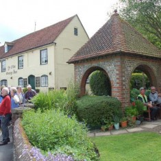 Guided walk by Almshouses, with residents