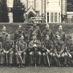 Home Guard NCOs, photographed outside what was then the vicarage.