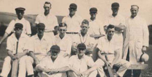 Lawrence Blackman in cricket team, middle row, right.
