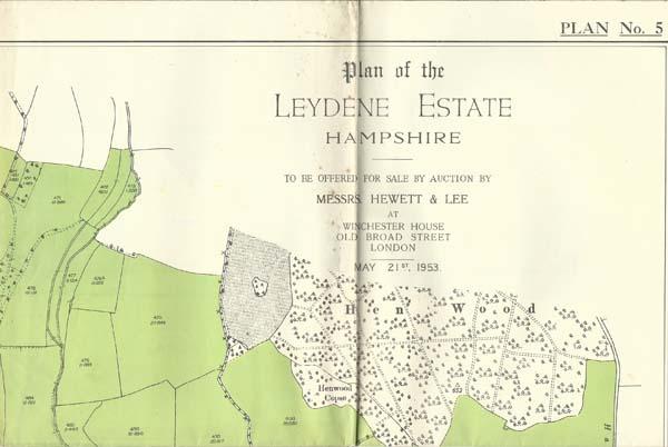 Leydene Estate Sale 1953, Map 5