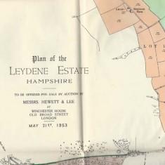 Leydene Estate sale, plan 2 inscription
