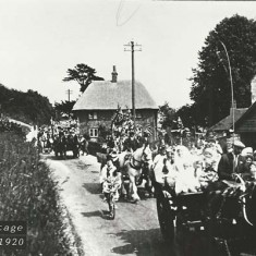 Procession by Hyde Cottage, c 1920