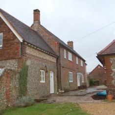 Punsholt Farm, on the site of the house where Dom Sigebert Buckley died in 1610, and where his body may be buried.
