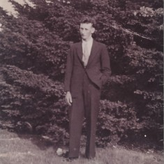 Reg Files as a young man, in suit.