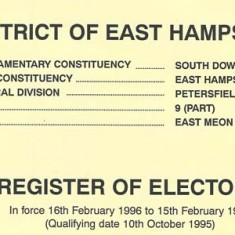 Register of electors 1996/7