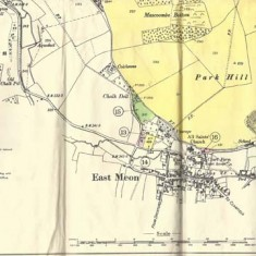 Bottom section of sales map of Bereleigh Estate, 1958. It includes Mascombe Bottom and Vineyard Hole.