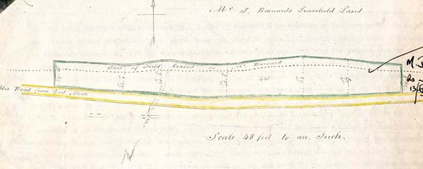 School Deeds, plan of land donated by the Bishop of Winchester for the building of the National School.