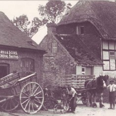 The old Forge and what is now Forge Cottage.