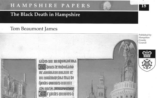 The Black Death in Hampshire by Tom Beaumont James