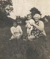 The third of the photographs sent to Reg in Italy. Margaret, her mother Kate Files and Reg's mother Kews Meadow