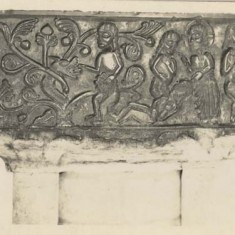 One of the sides of the Tournai Font.