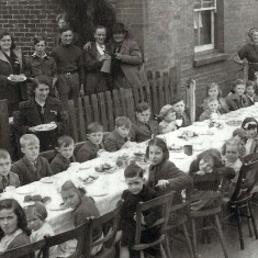 VE Day tea for children. Jim Cook writes