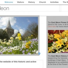Section of the village website, eastmeon.net, before it was closed.
