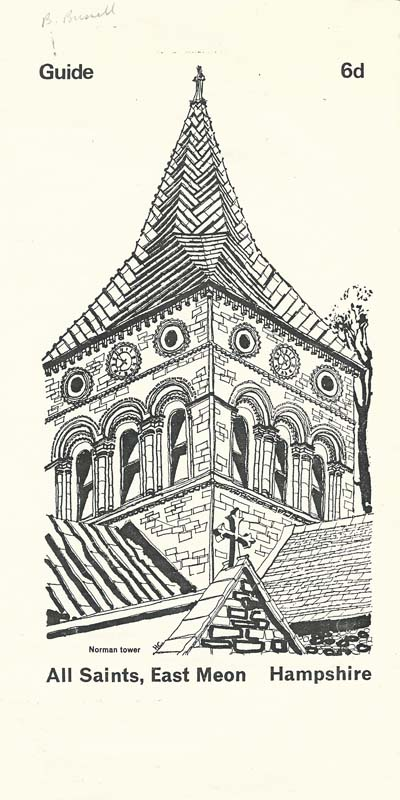 Cover of duplicated guide to All Saints, written by Thomas Heywood Masters in 1912