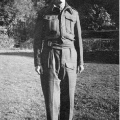 Second Lieutenant Saunders in Home Guard uniform.