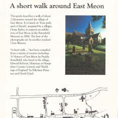 A short walk around East Meon. A guide to the most interesting buildings in East Meon, 2011