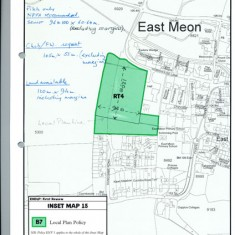 Map of East Meon in Local Plan