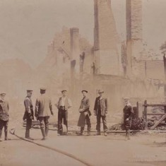 The aftermath of the 1910 fire which destroyed the western end of the High Street.