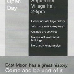 Black and white flyer History Open Day
