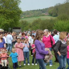 Crowds pouring in. Up to 6,000 people have attended East Meon's Country Fair, held on the first May Bank Holiday of the year.